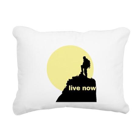 Live Now Rectangular Canvas Pillow