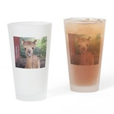 Alpaca Giving Raspberries Drinking Glass