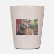 Alpaca Giving Raspberries Shot Glass