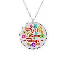 Peace Love Bingo Necklace