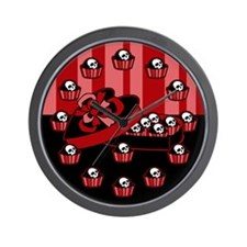 Skull Valentine Candy Wall Clock