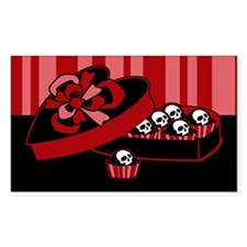 Skull Valentine Candy Decal