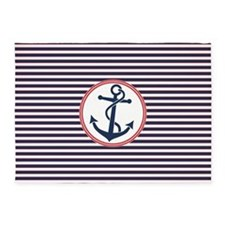 Anchor and Stripes 5'x7'Area Rug