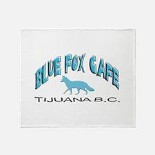 Blue Fox Cafe Throw Blanket