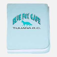 Blue Fox Cafe baby blanket