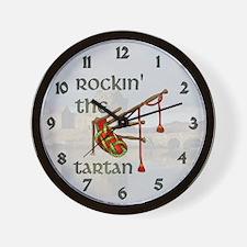 Rockin the Tartan Wall Clock