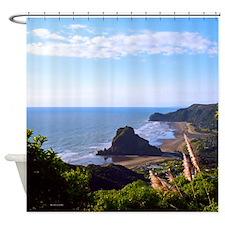 Piha Surf Beach NZ Shower Curtain