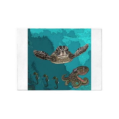 Sea creatures 5'x7'Area Rug
