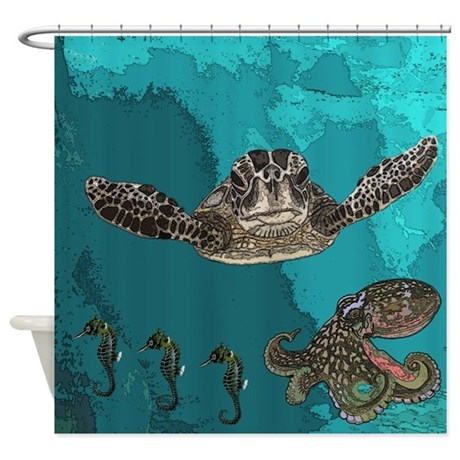 Sea Creatures Shower Curtain By Dmsdesignshop