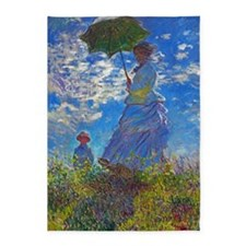 Monet - Woman with a Parasol 5'x7'Area Rug