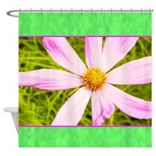 Baby Pink Cosmos Flower Shower Curtain