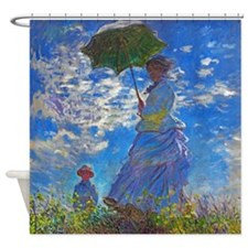 Monet - Woman with a Parasol Shower Curtain