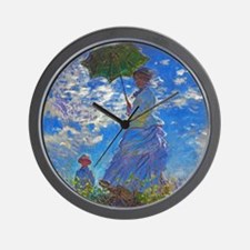 Monet - Woman with a Parasol Wall Clock