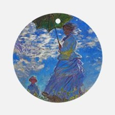 Monet - Woman with a Parasol Ornament (Round)