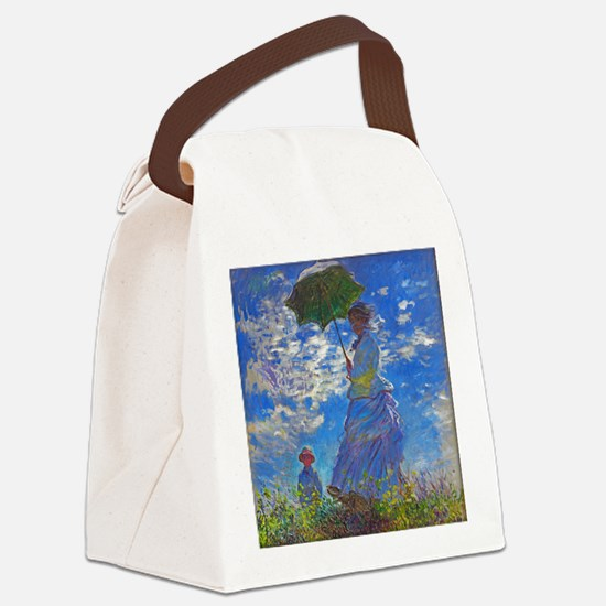 Monet - Woman with a Parasol Canvas Lunch Bag