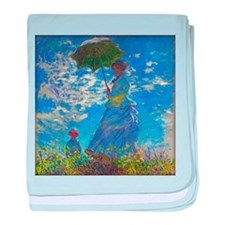 Monet - Woman with a Parasol baby blanket