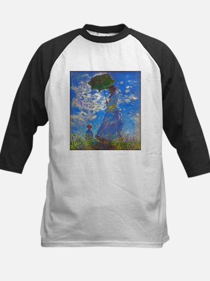 Monet - Woman with a Parasol Kids Baseball Jersey