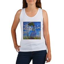 Monet - Woman with a Parasol Women's Tank Top