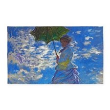 Monet - Woman with a Parasol 3'x5' Area Rug