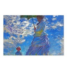 Monet - Woman with a Parasol Postcards (Package of