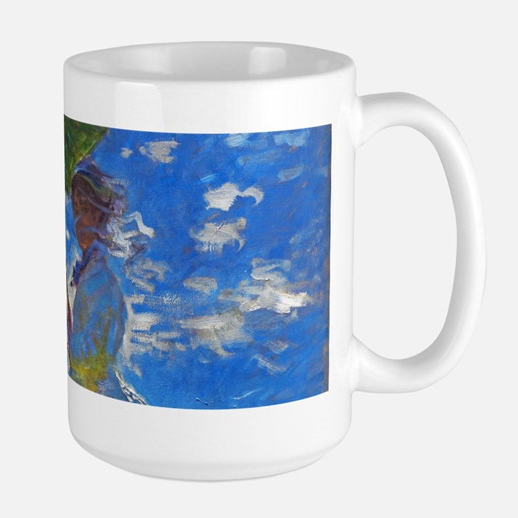 Monet - Woman with a Parasol Large Mug