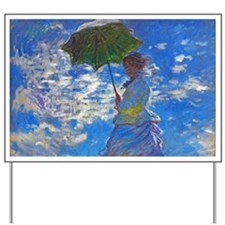 Monet - Woman with a Parasol Yard Sign