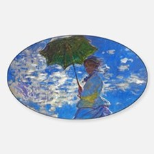 Monet - Woman with a Parasol Sticker (Oval)
