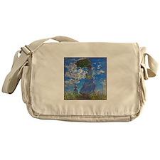 Monet - Woman with a Parasol Messenger Bag