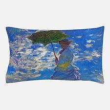 Monet - Woman with a Parasol Pillow Case