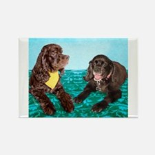 Cute Cockers Rectangle Magnet (10 pack)