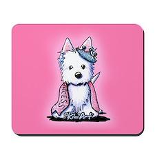 Westie Princess Sparkleheart Mousepad