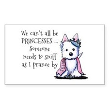 Westie Princess Sparkleheart Decal