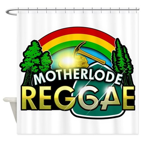 MotherLode Reggae logo Shower Curtain