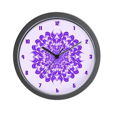 Abstract Wild Violet Wall Clock