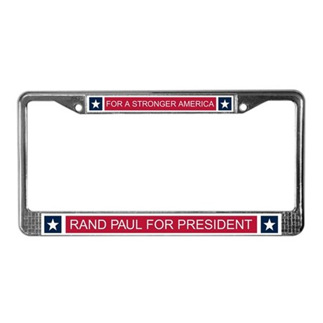 Elect Rand Paul President License Plate Frame