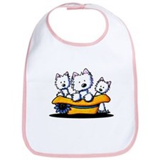 Sunday Westie Trio Bib
