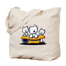 Sunday Westie Trio Tote Bag