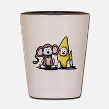 Monkey & Nana Westie Duo Shot Glass