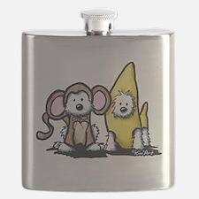 Monkey & Nana Westie Duo Flask
