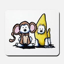 Monkey & Nana Westie Duo Mousepad