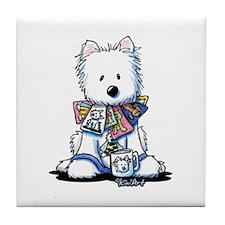 Westie KiniArt Addict Tile Coaster