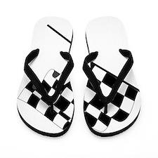 Racing Checkered Flag Flip Flops