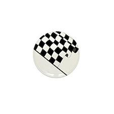 Racing Checkered Flag Mini Button