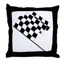 Racing Checkered Flag Throw Pillow