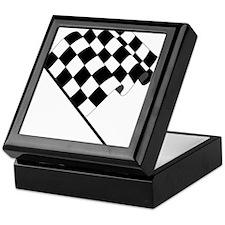 Racing Checkered Flag Keepsake Box