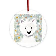 Westie Impressions Ornament (Round)
