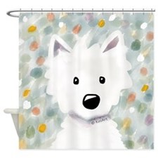 Westie Impressions Shower Curtain