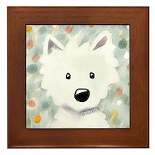 Westie Impressions Framed Tile
