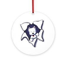 KiniArt Westie BLAST Ornament (Round)