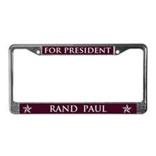 Vote Rand Paul President License Plate Frame
